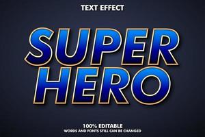 Editable blue and orange text effect vector