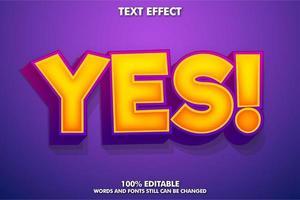 Cartoon text effect vector