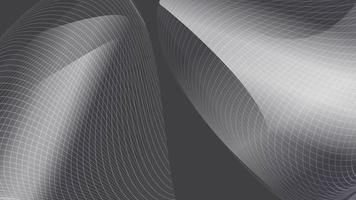 Abstract modern metallic silver wave mesh