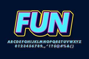 Retro alphabet style
