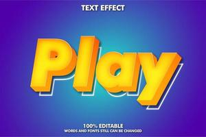 Editable moderntext effect vector