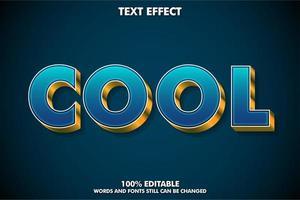 Efecto de texto de lujo