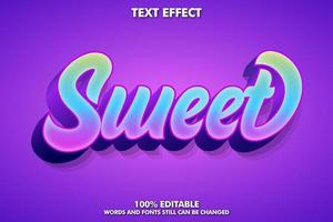 Editable text effect vector