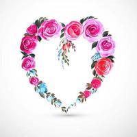Beautiful decorative rose heart card background