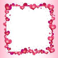 Valentines day frame with hearts vector