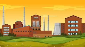 Factory site background scene vector