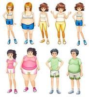 Overweight and skinny people