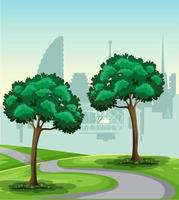 A park nature landscape vector