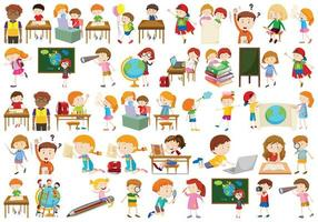 Set of different kids vector