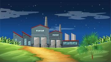 Pollution from factory theme scene in nature vector