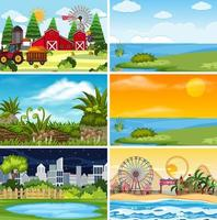 Outdoor scene set vector