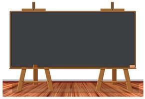Tableau noir en bois sur fond blanc