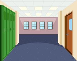 School hallway interior scene