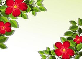 Rahmen mit Blüten und Blättern