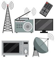Set of technology devices vector