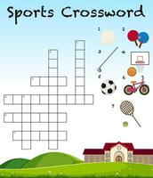 Sport crossword game template