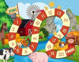 Farm board game background