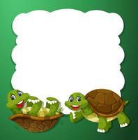 Concetto di cornice di tartaruga verde