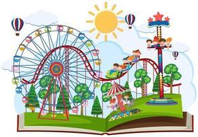 Um tema pop-up de feira de diversões