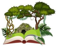 Wild forest open book