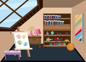 Interior of a childrens playroom vector