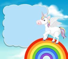 Una plantilla de unicornio colorido