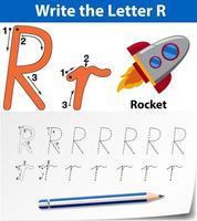 Scrivi la lettera R in inglese vettore