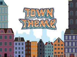 Town theme building template