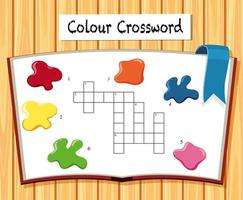 Colour crossword game template vector