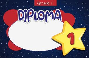 Grade one diploma template