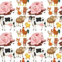Animals on seamless background