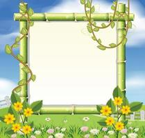 A beautiful nature frame vector