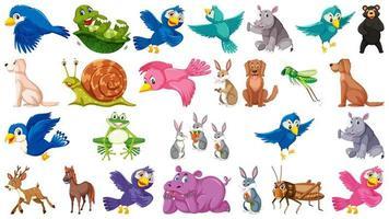 Conjunto de animales y ornamentales.