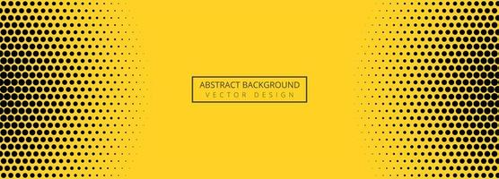 Abstract yellow and black dotted pattern banner design vector