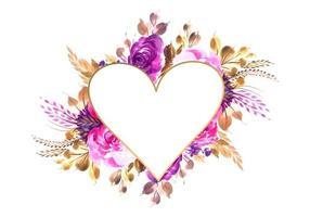 Aftelkalender voor Valentijnsdag uitnodigingskaart met kleurrijke bloemen achtergrond