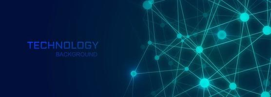 Technology banner background with polygon connecting shapes vector