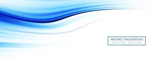 Abstract blue wave banner background vector