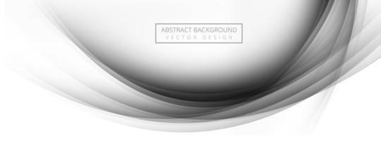 Elegant gray stylish wave banner background vector