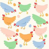 Seamless Easter pattern. vector