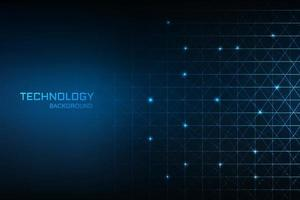 Technology digital concept blue background