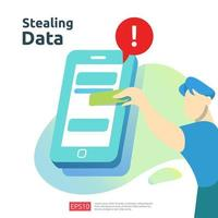 stealing personal data vector