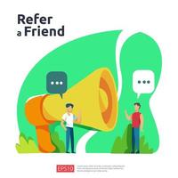 refer a friend illustration