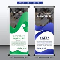 Set of vertical stand banners vector