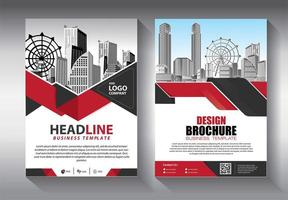 Red and Black Angle Design Flyer template