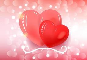 Alla hjärtans dag täcker med två hjärtan