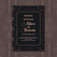 Dark Luxury Pattern Invitation Card Template vector