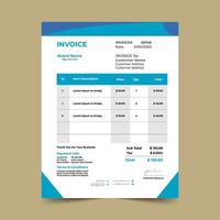 Blue Angled Business Invoice Template