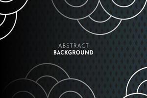 Donkergrijze achtergrond met cirkel- en ruitpatroon
