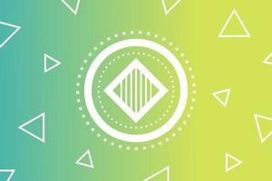 Abstract Geometric Green Background with Triangles