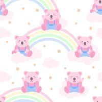 Naadloze patroon schattige roze koala